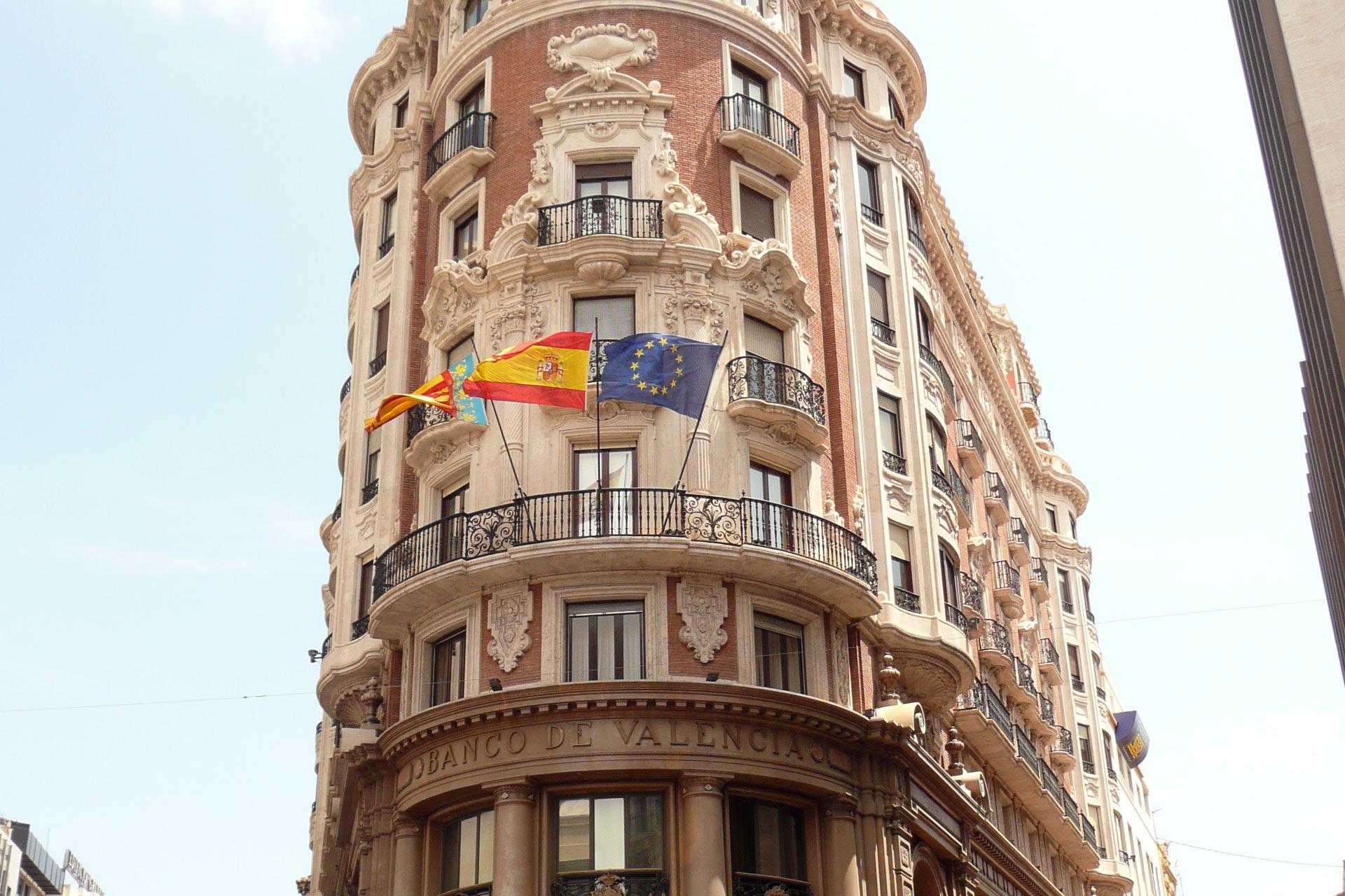 Los edificios más bonitos de Valencia. Banco de Valencia